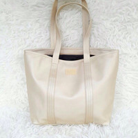 Lacoste Classic Zip Tote (Gold)