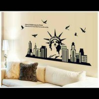 Jual wall sticker/wall stiker trans 60x90-ABQ9622-GLOW NEW YORK Murah