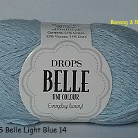 Jual Drops Belle light blue - benang rajut import (cotton) Murah