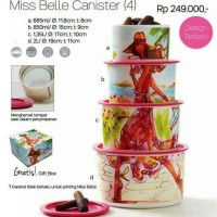 Toples Tupperware Miss Belle Canister (4 Toples) DISKON PROMO