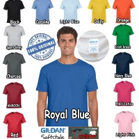 Kaos Baju Gildan Softstyle Colour 63000 warna Original GROSIR S M L XL