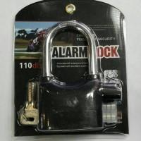 Jual Gembok Alarm Lock Anti Maling / Kunci Gembok Alarm Murah Murah
