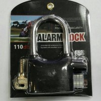 Gembok Alarm Lock Anti Maling / Kunci Gembok Alarm Murah