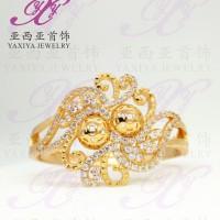 Gelang Lapis Emas Motif Bunga Permata Perhiasan Imitasi 18k Yaxiya 199