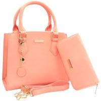 DJ Fashion The Elegant Woman Bag / One Set 240911 - Merah Muda