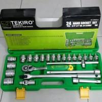 KUNCI SOK SET TEKIRO 24 PCS 12PT 1/2 INC DR. (8-32MM)