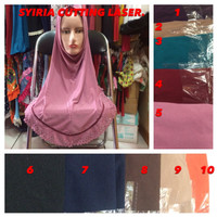Jilbab Hijab Kerudung Syiria Cutting Laser