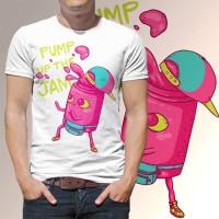 Kaos Distro Pria - pump the jam
