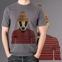 Kaos Distro Pria - seb the badger