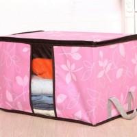 harga *Storage Bag/Cloth Organizer Motif Bunga CANTIK Tempat Baju Boneka Box Tokopedia.com