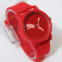 Puma Sporty Rubber Color Red Unisex