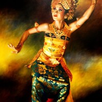 harga Repro Gambar Lukisan Penari Dancer Bali Pretty Painting Beautiful Tokopedia.com