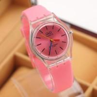 Qnq Vp46 Soft Pink Merah Muda Jam Tangan Wanita / Anak Qnq Qq Vp 46a2