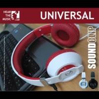 Headphone dj royal sound clip + mic |headset earphone universal