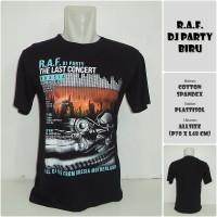 Jual KAOS DISTRO - RAF PARTY BIRU Murah