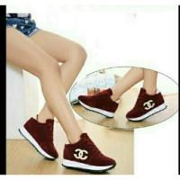 Sepatu Wanita / Sepatu Kets Wanita Murah Replika Chanel Merah
