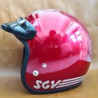 Helm Retro Classic SGV Import Malaysia Merah