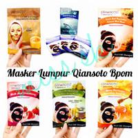 [Sachet] Qiansoto Facial Mask BPOM / Peel Off Mud Mask / Masker Y6BA
