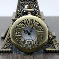 pocket watch / jam saku / kalung vintage alice in wonderland