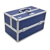 kotak kosmetik artis/ koper box kosmetik/tempat kosmetik biru dongker