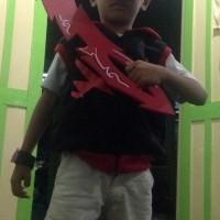 Boboiboy halilintar (rompi + Topi + gelang + pedang)