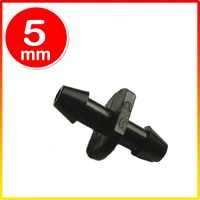 Nepel Nipple 2 arah model tusuk untuk selang 5mm hidroponik misting