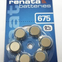 HEARING AID BATTERY / BATERAI RENATA 675 ( ZA675 ) 6 PCS