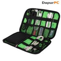 Tas Portable BUBM Gadget Organizer Bag Portable Case [Black-Green]