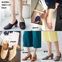 Sepatu Sandal Sendal Selop Kerja Pesta High Heels Wanita Korea Import