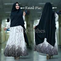 Model Baju Gamis Baju Muslim Baju Gamis Fashion CORINA SYARI PUTIH Ter