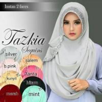 Pashmina Instan 2 Face Tazkia Sequin Jersy Premium