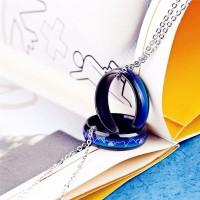 Couple Mood Ring Titanium Black Mood Ring Promise Ring Jewelry