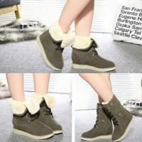 Winter Warm Ankle Snow Boots Sepatu Boot Salju Import