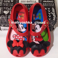 harga Sepatu Jelly Shoes Anak Lucu Mini Melissa Disney Twins Minnie Mouse Tokopedia.com
