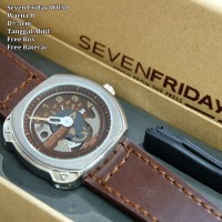 Jam Tangan Pria / Cowok / Jam Murah Sevenfriday Trons Dark Brown Color