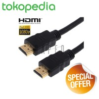 Jual Kabel HDMI to HDMI 2m / 2 meter High Speed OD7.3mm Gold Plated 4K Murah
