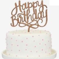 Jual Cake Topper - Tulisan Happy Birthday - T08 Murah