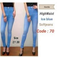 harga Celana panjang soft jeans cewek / wanita High waist Tokopedia.com