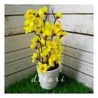 BUKET bunga plastik artificial palsu hias sakura shabby