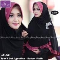 Jilbab Ar Rafi Hijab ArRafi - Jilbab Instan Jumbo AR 001 Hitam Fushia