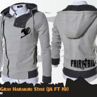 Jaket Anime Fairy Tail Grey Harakiri Jacket Hoodie (JA FT 19)