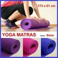 harga Matras Yoga PREMIUM Tebal 6mm Bonus TAS / SARUNG Karpet Alas Senam Gym Tokopedia.com