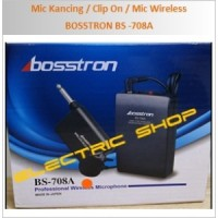 Mic Kancing / Clip On / Mic Wireless - BOSSTRON BS - 708A