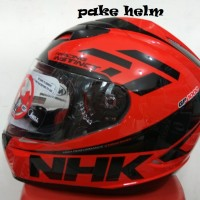 HELM NHK GP 1000 RACING INSTINCT BLACK RED DOUBLE VISOR GP1000