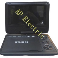 PORTABLE TV / DVD PLAYER RINREI 7' WIDE SCREEN