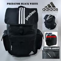 Tas Ransel Adidas Predator Black Check White (Free RainCover)