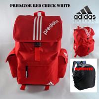Tas Ransel Adidas Predator Red Check White (Free RainCover)