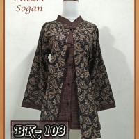 Jual Blouse Batik Pekalongan/ Atasan Batik Wanita/ Blouse Batik Wanita 103 Murah