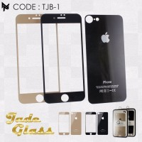 IPHONE 7 PLUS Tempered Glass Warna 2in1 Jade Black & Gold Editon