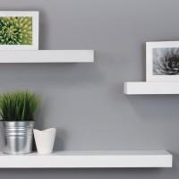 Jual 1 set rak dinding dekorasi rumah / buku hiasan dll tempat penyimpanan Murah